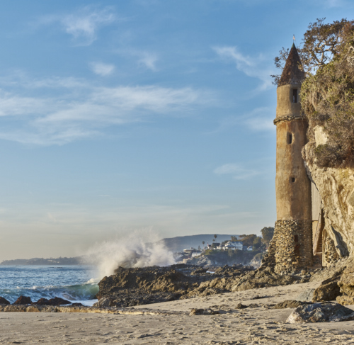 Treasure Island Laguna Beach: Pirate Tower On Victoria Beach